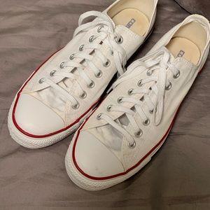 "Converse ""Chucks"", White, super clean!  Men SZ 9!"
